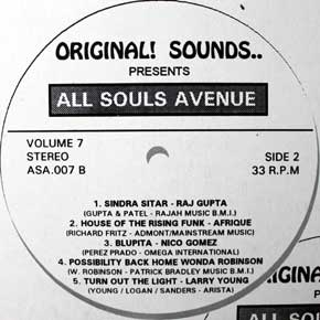 Original! Sounds All Souls Avenue